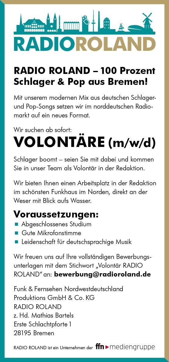Jobangebot / Volontär RADIO ROLAND